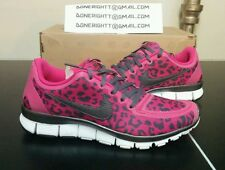 Womens Nike Free 5.0 v4 Cheetah Leopard Fireberry Pink Black Grey TR 511281-660