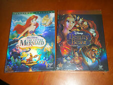 Disney's The Little Mermaid and Beauty and The Beast DVDS New