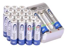 20x 3000mAh AA 1.2V Ni-MH rechargeable battery BTY for RC Toy Camera MP3+Charger
