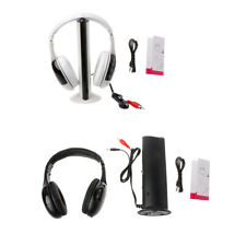 Hi-Fi 5 in 1 Wireless Headphones Earphone Headset for MP3 PC Laptop TV FM Radio