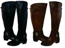 Vince Camuto Womens Beatrix Pull On Wide Calf Tall Over The Knee Riding Boots