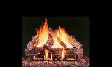 """18"""", 24"""", 30"""" Grand Oak Vented Fireplace Gas Logs Lots of Bark Detail LP or NG"""