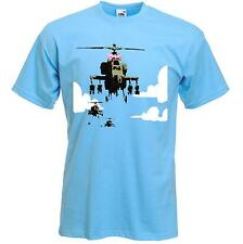 BANKSY HAPPY CHOPPERS T-SHIRT -  Helicopters - Sizes S to XXXL