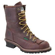 Georgia G7113 Men's Brown Waterproof Logger Work Boots