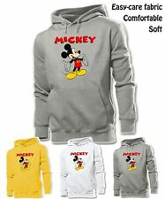 Unisex Mens Girls Cute Disney Mickey Mouse happy open Arm Sweatshirt Hoodie Tops