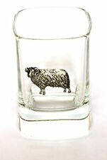 Sheep Design crystal SHOT GLASS , farming gift holds 50ml ( double) of spirits