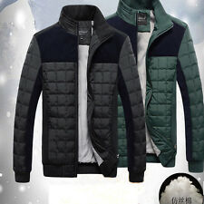 Men's Winter Warm Casual Collar Slim Fit Parka Coat Jacket Outwear Overcoat Top