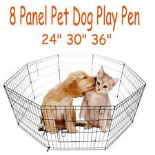 "24 30 36 "" Exercise 8 Panels Indoor Outdoor Pen Dog Crate Kennel Playpen Fence"