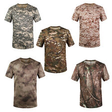 New TREE CAMO STEALTH T-SHIRT Mens Camouflage Cotton Tee Hunting Fishing Camping