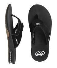 REEF FANNING BLACK / SILVER MENS SANDALS FLIP-FLOPS NEW
