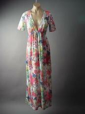 Colorful Floral Ombre Sheer Lace Beach Tunic Cover Long Maxi 146 mv Dress S M L