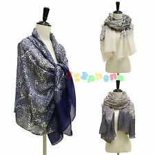 FLORAL CASHEW PRINT LADIES WOMEN FASHION LACE COTTON SCARF WRAP LADIES SHAWL