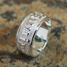 Hawaiian 925 Sterling Silver KUUIPO Love Jewelry Wedding Ring Band 8mm SR1121