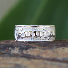 Hawaiian 925 Sterling Silver KUUIPO Love Jewelry Wedding Ring Band 8mm SR1111