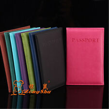 New Passport Holder Protector Cover Wallet PU Leather Cover Free Shipping