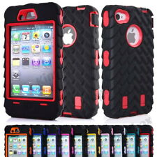 Tyre Rubber Hybrid Heavy Duty High Impact Shockproof Armor Case Cover for iPhone