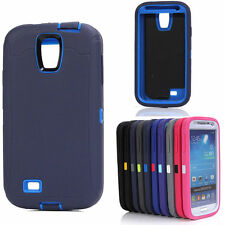 Armored Heavy Duty Defender Hard Back Case Cover For Samsung Galaxy S4 i9500