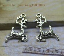 wholesale 30/100pcs Delicate and lovely Tibetan silver sika deer charm pendant