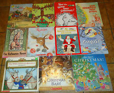 50 Children's Picture Storybooks Holiday Seasonal ages 4-8 Christmas Halloween +