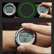Skmei Pedometer Digital Sport Watch Wrist Heart Rate Monitor Alarm Chronograph