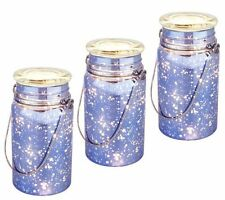 S/3 Indoor/Outdoor Battery Op Mercury Glass Mason Jars by Valerie QVC $30 CHOICE