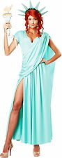 Sexy Statue Of Liberty Draped Dress Political & Patriotic Costume Adult Women