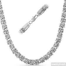 6mm Jumbo Heavy Stainless Steel Silver Byzantine Mens Chain