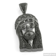 Top Quality CZ Iced Out Black Jesus Piece Pendant