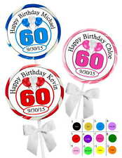 60TH BIRTHDAY PARTY FAVORS STICKERS  for lollipops  goody bags, favor boxes