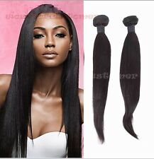 Hot!!!100% Weft Brazilian 1 Bundle Remy Human Hair Straight Weave Extensions 50g