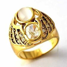 fashion jewelry wedding gold filled fire opal cz womens rings size 6 7 8 9 10