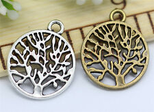 10/40/200pcs Tibetan Silver Tree Jewelry Finding Charms Pendant DIY 20x16mm