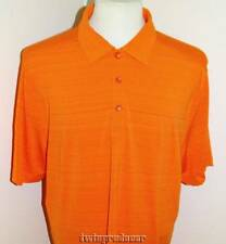 New Mens Cutter & Buck DryTec Fade Stripe SS Polo Shirt L Orange Periwinkle Plum