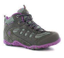Hi-Tec Penrith Mid Waterproof Walking Trail Hiking Girls Boots Size 10-5 UK