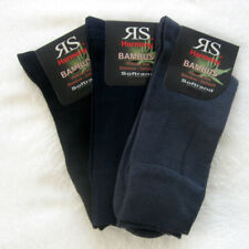 3 Pairs Men Socks without Rubber Soft rim Bamboo Bamboo socks grey black blue