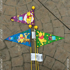 BIKE BICYCLE FLAG WINNIE THE POOH LONG 1.65M POLE ROAD SAFETY KIDS CHILDREN