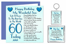 Son Happy Birthday Gift Set - Card, Keyring & Magnet - Age Range 16 - 60 Years