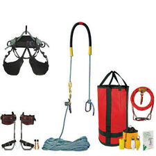 Tree Climbers Ultra Light Combo Kit,Onyx Harness,Aluminum Spurs,Rope