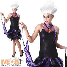 Ursula Ladies Fancy Dress Disney Little Mermaid Womens Villian Halloween Costume