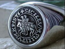 Masonic Knights Templar Ring White surgical Steel size 13 Visit our Store New