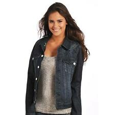 52-4517  Rock & Roll Cowgirl Juniors Denim Jacket with Contrast Embroidery  NEW