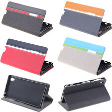 New BookStyle Wallet Leather Folio Flip Case Cover Stand For Sony Xperia Models