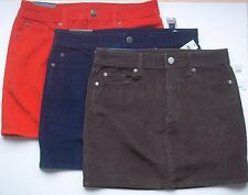 Gap Ladies Fine Wale Corduroy Mini Skirt with Stretch NWT Great Fall Colors