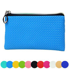 Womens Candy Color Leather Wallet Zipper Clutch Purse Lady Long Handbag Bag Gift