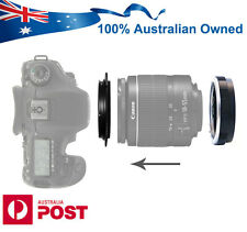 Reverse Macro Adapter + Protection Filter Ring for Canon EOS Mount Lens AUS