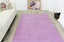 New Small Large Rugs Solid Modern Violet Purple Rugs Hand Woven 100% Cotton Rugs