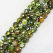 "Faceted Multi-Color Agate 8-14mm Round Loose Beads 15""(ag355)"
