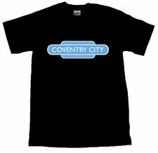 Coventry City Football Totem Railway Sign Black T-SHIRT #ALL SIZES