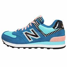 New Balance WL574BFL B Blue Pink Black Womens Running Shoes Sneakers WL574BFLB