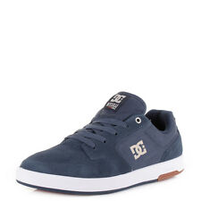 Dc Shoes Nyjah Navy Camel Leather Lace Up Casual Skate Trainers Size